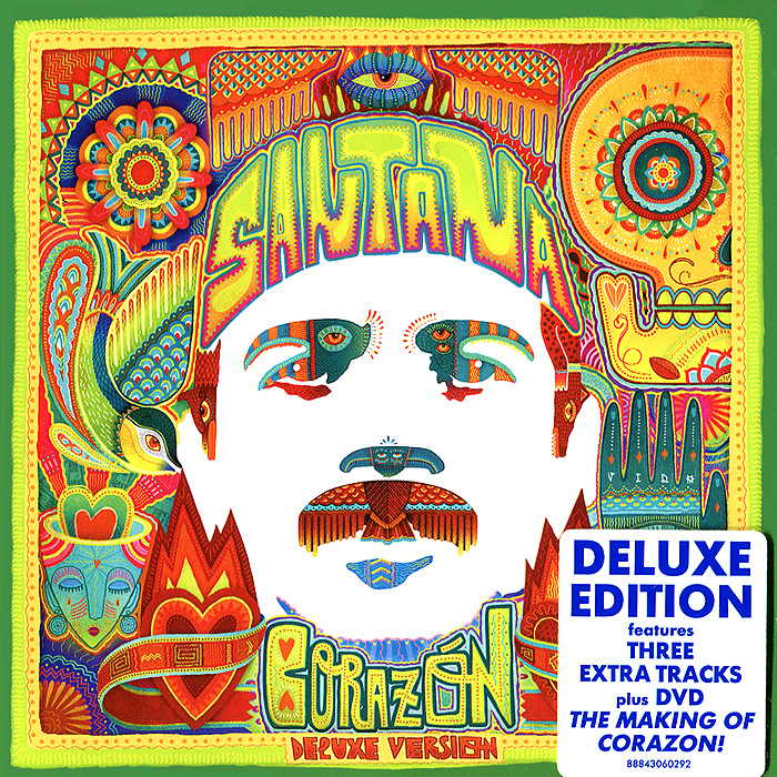 Santana Santana. Corazon. Deluxe Edition (CD + DVD) elbow elbow leaders of the free world deluxe edition 2 cd dvd
