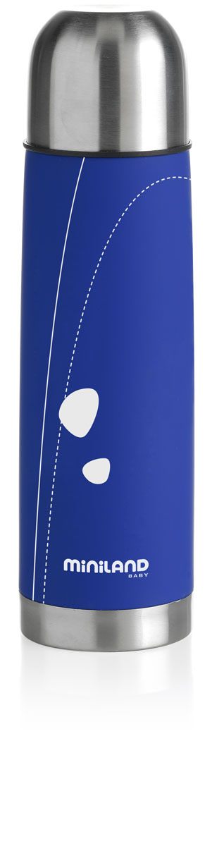 Термос для жидкостей Miniland Soft Thermo, цвет: синий, 500 мл89090Термос для жидкостей Miniland Soft Thermo позволит покормить ребенка вне дома, что очень удобно во время поездок и путешествий. Он сохранит напитки или бульоны для ребенка определенной температуры. Корпус термоса с двойной стенкой выполнен из прочной нержавеющей стали, которая гарантирует максимальную гигиену и надежность. Термос закрывается плотно и герметично завинчивающейся крышкой со специальным клапаном и сверху пластиковым колпаком, который можно использовать в качестве чашки.