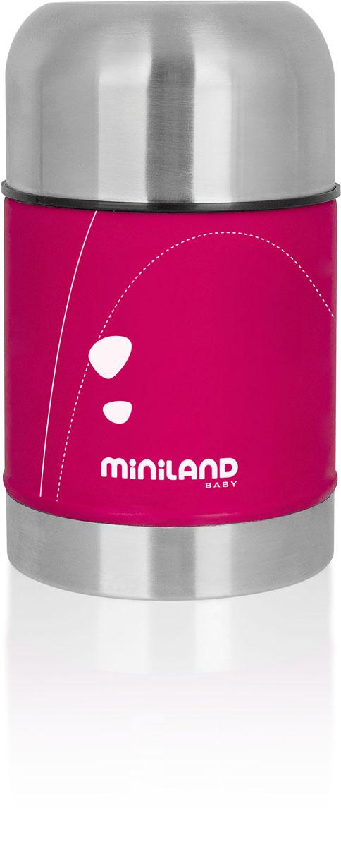 Термос Miniland  Soft Thermo Food  для детского питания, с сумочкой, цвет: фуксия, 600 мл -  Все для детского кормления