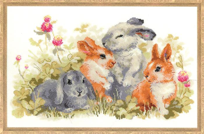 """Набор для вышивания Riolis """"Забавные крольчата"""", 40 см х 25 см"""