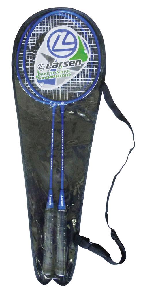Набор ракеток для бадминтона Larsen 316PRO, цвет: черный, синий, 2 шт сумка для ракеток larsen wb020d красный
