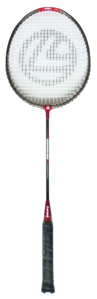 Ракетка для бадминтона Larsen 417B, цвет: черный, красный261498,4690222084344Ракетка бадминтонная Larsen 417B, длинной 665 мм, состоит из алюминиевого обода и графитового стержня. Баланс ракетки 275 - 280 мм. Рекомендуемое натяжение производителем составляет 18-20 lbs/8-9 кг. Ракетка бадминтонная Larsen 417Bрассчитана на игроков начального уровня.