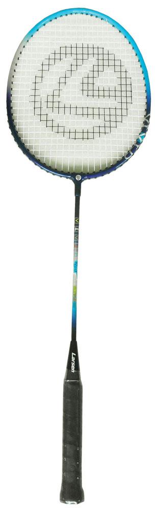 Ракетка для бадминтона Larsen 317VIVID, цвет: черный, голубой гантель для фитнеса s образная larsen nt169s