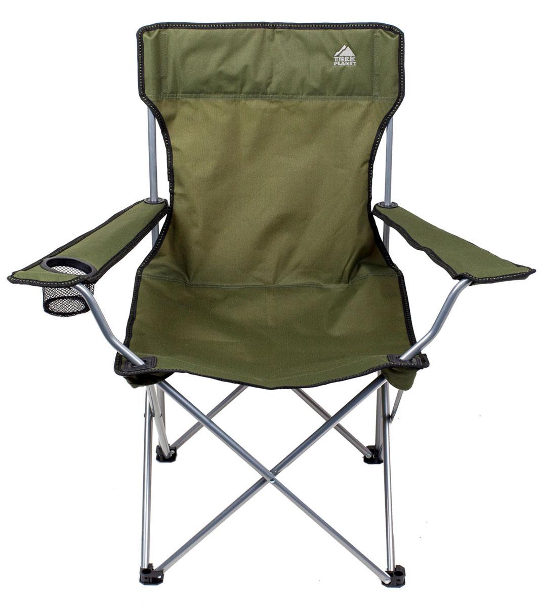 Комфортное складное кресло PICNIC с широким  сиденьем и высокой спинкой прекрасный выбор для  отдыха на природе, охоты и рыбалки. Прочный материал сиденья 600D полиэстер с  защитой от ультрафиолетового излучения, не  впитывает влагу и быстро сохнет. Комфорта добавляют широкие подлокотники и  держатель для бутылок. Ножки имеют защиту из прочного пластика,  предотвращая проваливание кресла в землю и  песок. В сложенном состоянии не занимает много места и  комплектуется чехлом с лямкой для переноски.   - Удобное сиденье. - Высокая спинка. - Очень легкое. - Широкие подлокотники. - Держатель для бутылок. - Прочный материал. - Защита от УФО. - Чехол с лямкой для переноски и хранения.