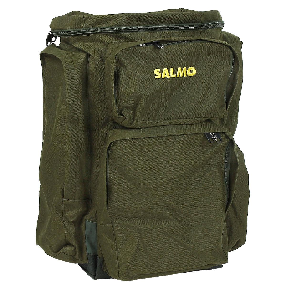Рюкзак рыболовный Salmo 105 л, цвет: зеленый ящик рыболовный salmo трехполочный цвет зеленый