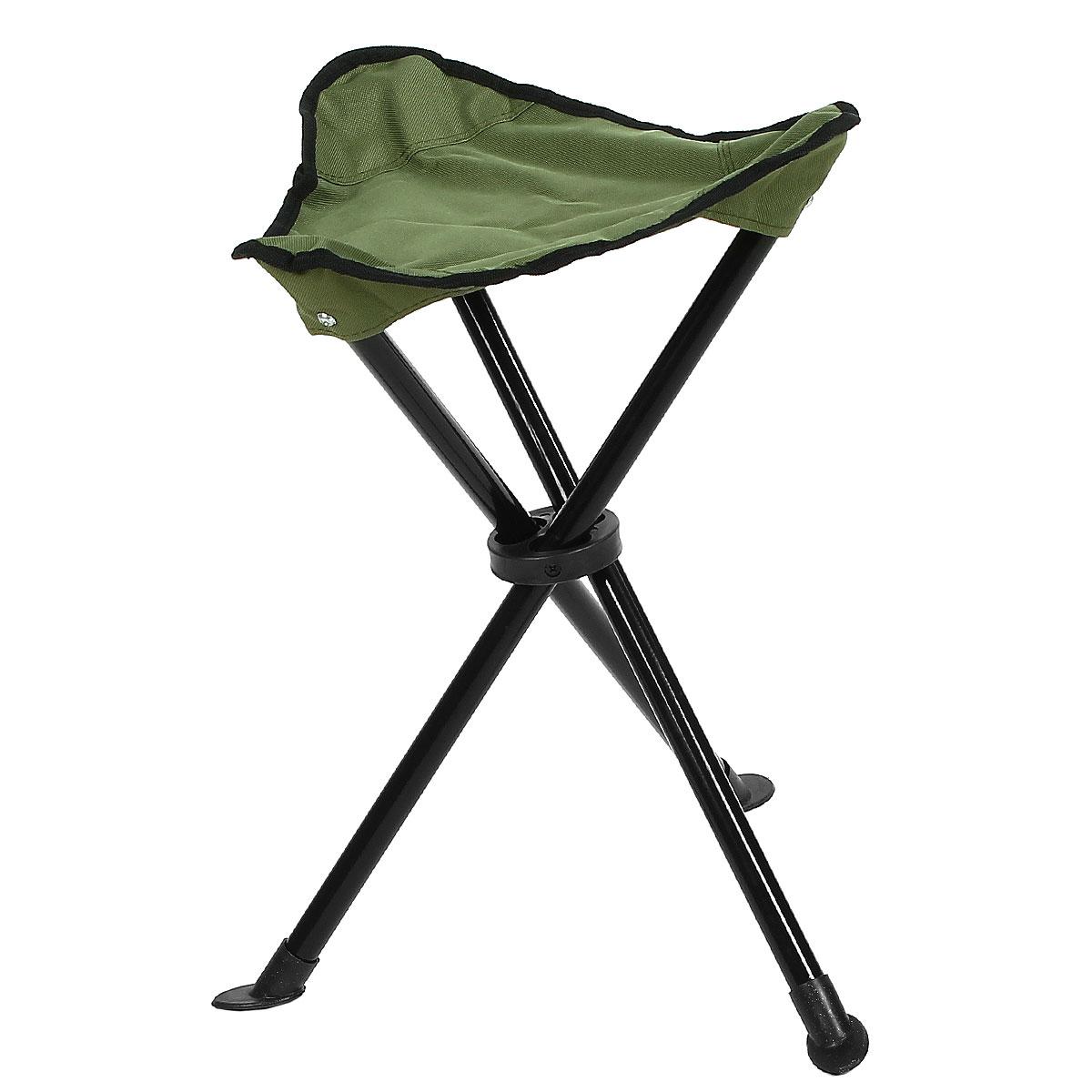 Стул складной на 3-х ножках Happy Camper, цвет: зеленыйЛК-8106Стул складной Happy Camper - это незаменимый предмет походной мебели, очень удобен в эксплуатации. Каркас стула изготовлен из прочного и долговечного алюминиевого сплава, устойчивого к погодным условиям Стул легко собирается и разбирается и не занимает много места, поэтому подходит для транспортировки и хранения дома. Складное кресло прекрасно подойдет для комфортного отдыха на даче или в походе.Материал: 600D ПВХ, каркас - сталь 19 мм.Максимальная нагрузка: 90 кг.