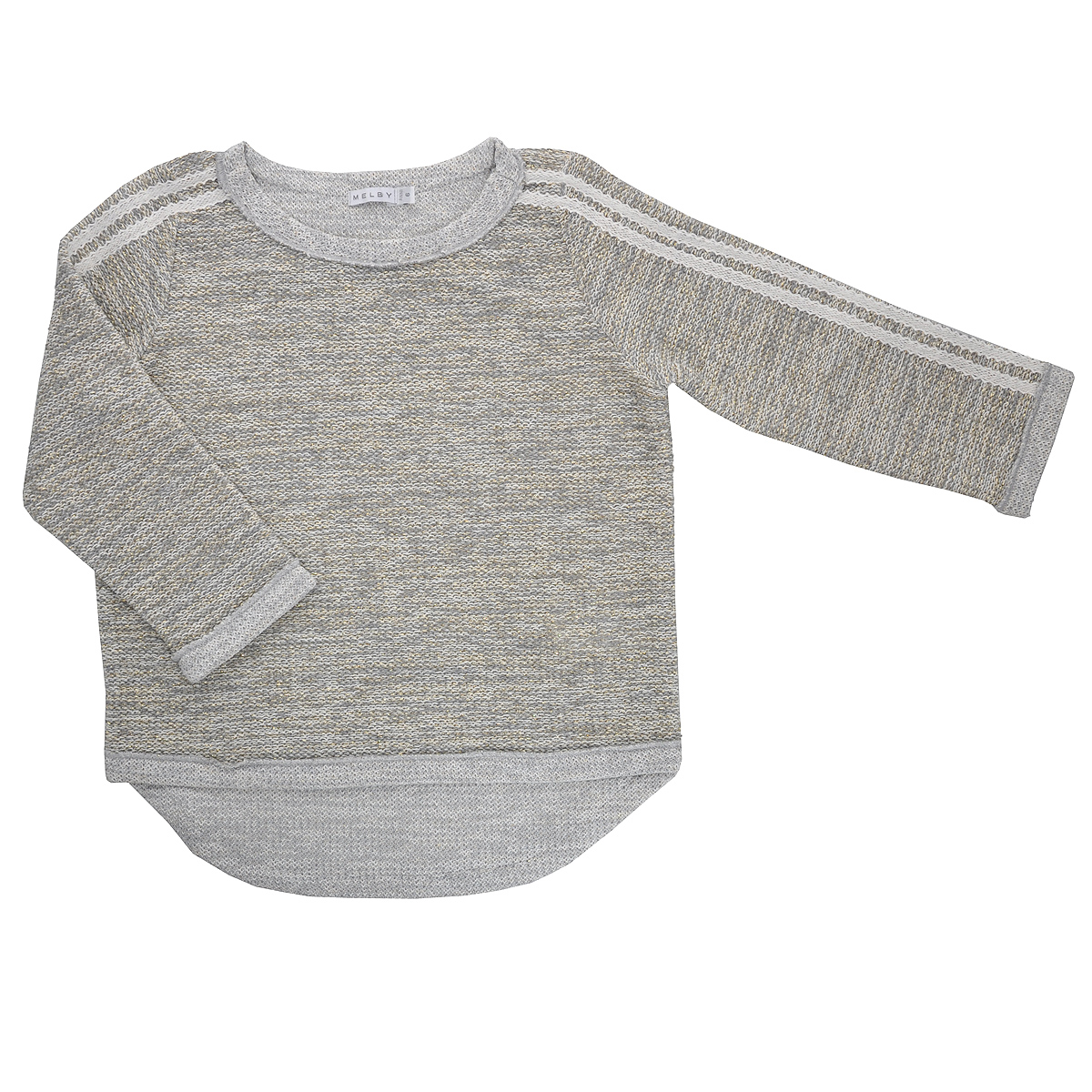 Джемпер для девочки Melby, цвет: серый. 12011944. Размер 122, 7 лет