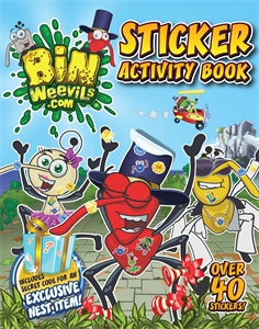 Bin Weevils Sticker Activity Book happy holiday sticker activity book