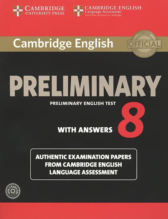 Cambridge English: Preliminary 8: Student's Book Pack cambridge preliminary english test 6 self study pack student s book with answers and audio cds 2