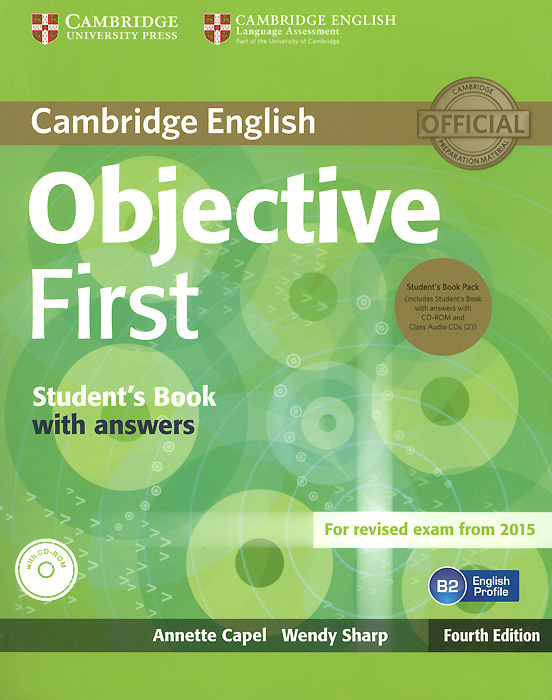 Objective First: Student's Book with Answers (+ 3 CD-ROM) сумка the cambridge satchel
