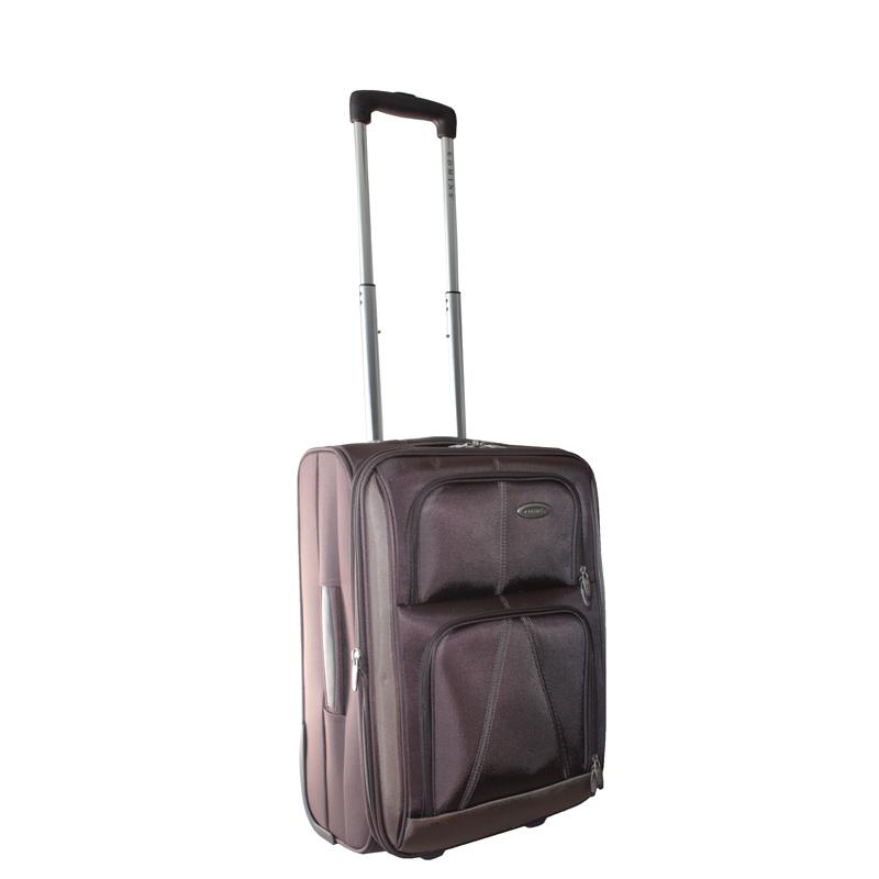 Чемодан-тележка Edmins, с расширяющимся объемом, цвет: коричневый, 10 кг. 243 СТ 720*10243 СТ 720*10Чемодан-тележка Edmins идеально подходит для поездок и путешествий. Чемодан изготовлен из плотного нейлона коричневого цвета, имеет жесткую конструкцию. Благодаря дополнительному отделению на молнии обладает способностью расширяющегося объема. Чемодан имеет одно вместительное основное отделение для хранения одежды и аксессуаров, которое закрывается на застежку-молнию с двумя бегунками. Внутри - большое вшитое отделение на молнии, сетчатое отделение на молнии, накладной кармашек на молнии и два ремня на застежках. Внутренняя поверхность изделия отделана атласным полиэстером бежевого цвета. С лицевой стороны сумки расположено два дополнительных отделения на молнии. С задней стороны содержится выдвижная табличка для записи имени, адреса и номера телефона. Чемодан оснащен удобной выдвижной алюминиевой ручкой, которая выдвигается нажатием на кнопку и регулируется по длине. Дно чемодана имеет 2 колеса и ручку-фиксатор. Боковая поверхность оснащена 4 пластиковыми вставками для предотвращения загрязнений. Имеется две коротких ручки для переноски, одна из которых боковая. Чемодан имеет кодовый замок. Предварительно установленная на заводе комбинация открытия - 000. Вы можете заменить ее на другую, следуя инструкции. В комплекте - чехол на кулиске для хранения мелких аксессуаров или обуви. Стильный и вместительный чемодан Edmins вместит все необходимые вещи и станет незаменимым аксессуаром во время поездок. Особенности: - Замок: Встроенный кодовый замок,- Увеличение объема, - Багажные ремни внутри,- Ножки на боковой стороне,- Жесткая конструкция,- Несколько внутренних карманов,- На задней стенке вкладыш для подписи фамилии,- Мешок для обуви,- Число колес: 2.Материал: нейлон, полиэстер, алюминий, пластик.Цвет: коричневый.Размер чемодана (ДхШхВ): 36 см х 22 см х 50 см.Максимальная нагрузка: 10 кг.Количество колес: 2 шт.Длина выдвижной ручки: 27 см, 53 см.Размер чехла: 31 см х 42 