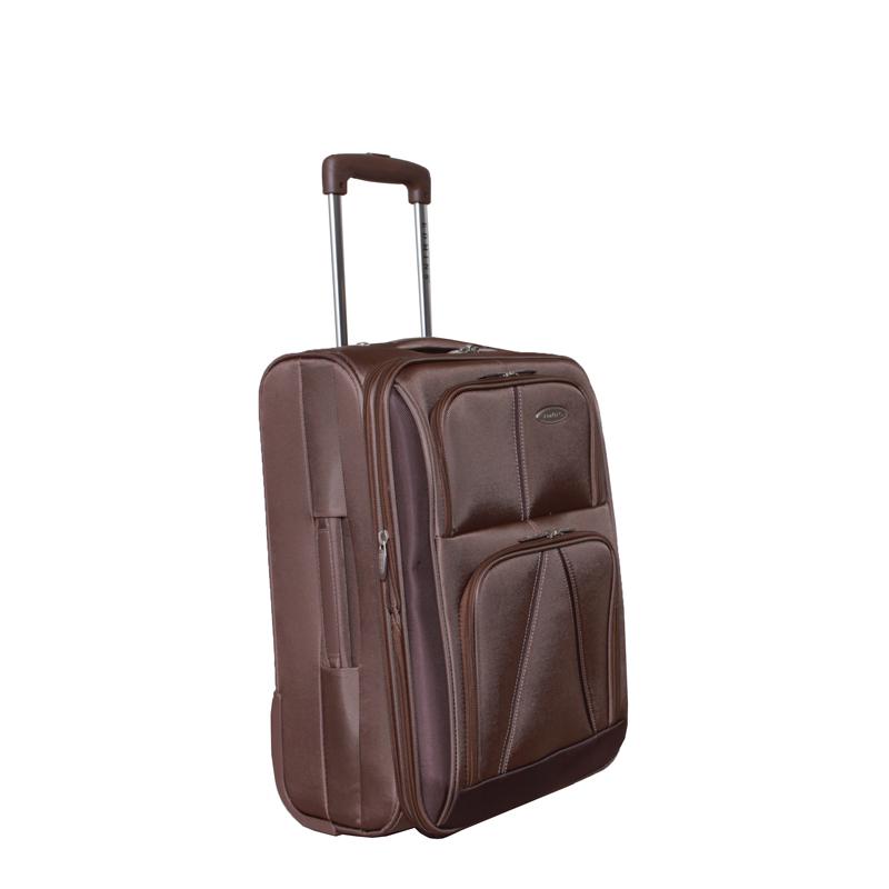 Чемодан-тележка Edmins, с расширяющимся объемом, цвет: бронза, 10 кг. 243 СТ 720*5243 СТ 720*5Чемодан-тележка Edmins идеально подходит для поездок и путешествий. Чемодан изготовлен из нейлона бронзового цвета, имеет жесткую конструкцию. Благодаря дополнительному отделению на молнии обладает способностью расширяющегося объема. Чемодан имеет одно вместительное основное отделение для хранения одежды и аксессуаров, которое закрывается на застежку-молнию с двумя бегунками. Внутри - большое вшитое отделение на молнии, сетчатое отделение на молнии, накладной кармашек на молнии и два ремня на застежках. Внутренняя поверхность изделия отделана атласным полиэстером бежевого цвета. С лицевой стороны сумки расположено два дополнительных отделения на молнии. С задней стороны содержится выдвижная табличка для записи имени, адреса и номера телефона. Чемодан оснащен удобной выдвижной алюминиевой ручкой, которая выдвигается нажатием на кнопку и фиксируется в двух положениях. Дно чемодана имеет 2 колеса и ручку-фиксатор. Боковая поверхность оснащена 4 пластиковыми вставками для предотвращения загрязнений. Имеется две коротких ручки для переноски, одна из которых боковая. Чемодан имеет кодовый замок. Предварительно установленная на заводе комбинация открытия - 000. Вы можете заменить ее на другую, следуя инструкции. В комплекте - чехол на кулиске для хранения мелких аксессуаров или обуви. Стильный и вместительный чемодан Edmins вместит все необходимые вещи и станет незаменимым аксессуаром во время поездок. Особенности: - Замок: Встроенный кодовый замок,- Увеличение объема, - Багажные ремни внутри,- Ножки на боковой стороне,- Жесткая конструкция,- Несколько внутренних карманов,- На задней стенке вкладыш для подписи фамилии,- Мешок для обуви,- Число колес: 2.