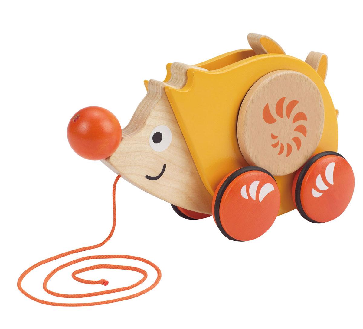 Деревянная игрушка-каталка Hape Ежик настольные игры hape игрушка паллина