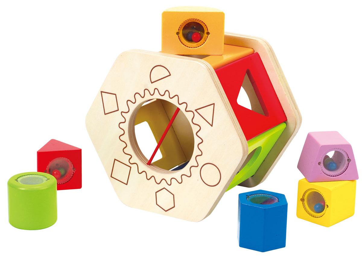 Деревянная игрушка-сортер Hape, 7 элементов фигурки игрушки prostotoys пупсень серия лунтик и его друзья