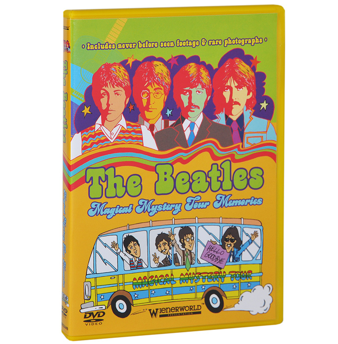 A must have for all Beatles fans worldwide and an opportunity to look back fondly at the heady days of the swinging 60s!The Beatles - Magical Mystery Tour Memories is an upbeat rockumentary film featuring the vivid memories of those who witnessed the making of the cult Beatle movie, The Magical Mystery Tour, in 1967. It features a celebrity cast along with anecdotal stories and unseen 8mm home movie footage, as well as eye-witness accounts from fans, en-leokers and the cast of the movie.