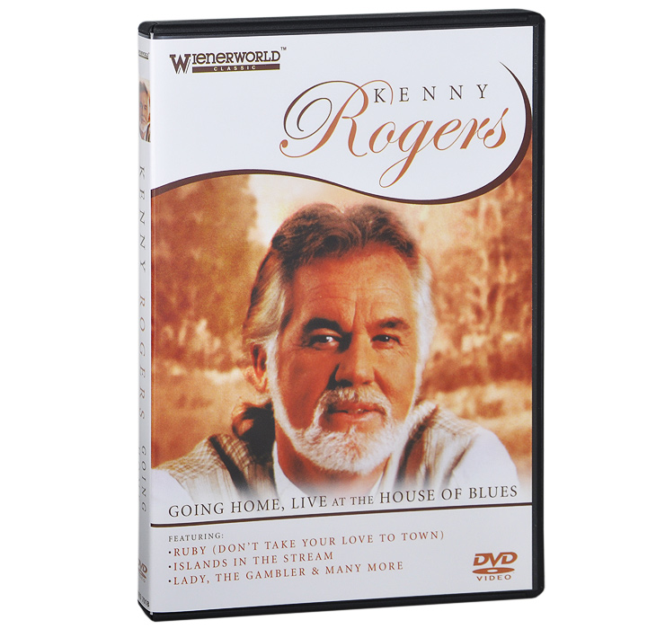Alter more than 40 years of perpetual success this DVD provides an insight into a unique performer. Kenny Rogers - Going Home is an essential DVD for all fans. Featuring some of the superstar's most memorable performances and songs, it also reveals an insight into his life, family, music and achievements. It features Kenny performing in concert at the tamed House of Blues in Los Angeles before a celebrity packed audience and includes the memorable duet with Dolly Parton singing Islands in the Stream. Under the skilled baton of David foster and his Orchestra, Kenny performs a selection of everyone's favourite songs, interspersed with candid fascinating comments and memories from the superstar himself.The performances and song will thrill you. An American icon, there are few artists of Kenny' stature. His phenomenal success as a global entertainer is unique and his live concerts have always been a mainstay of his outstanding popularity.Track Listing 01. Twenty Years Ago 02. Youth Only Happens To You One Time 03. Walking My Baby Back Home 04. It's A Good Day 05. When I Fall In Love 06. In The Mood 07. Just Dropped In (To See What Condition My Condition Was In) 08. Ruby (Don't Take Your Love To Town) 09. The Gambler 10. Islands In The Stream 11. Love The World Away 12. Lady 13. I Get Along Without You Very Well 14. Love Is Just Around The Corner 15. Sweet Music Man 16. I Remember You 17. You Are So Beautiful 18. Sweet Home, Chicago 19. Twenty Years Ago