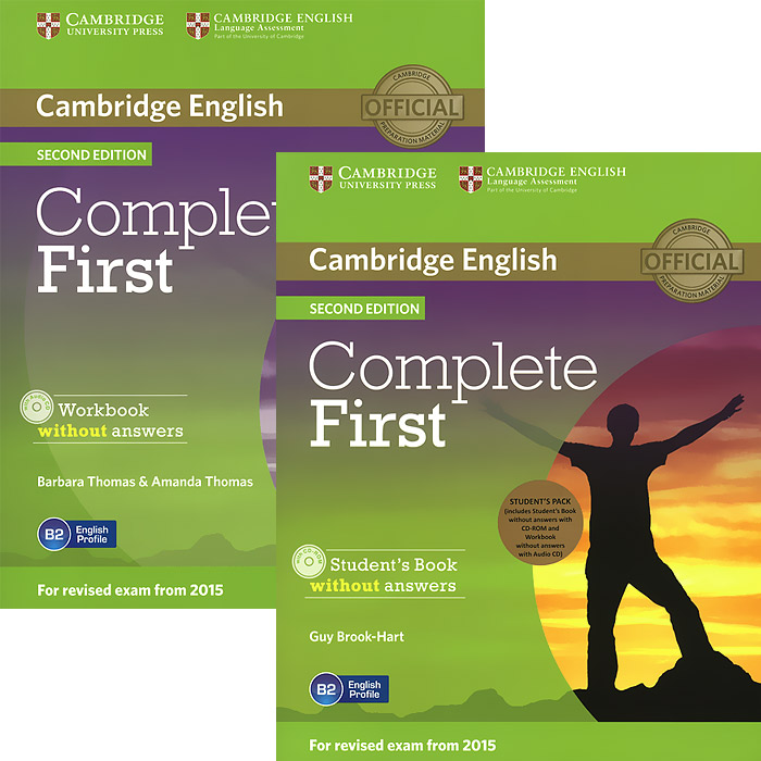 Complete First (комплект из 2 книг + CD-ROM, CD) complete first 2 edition student s book without answers cd rom
