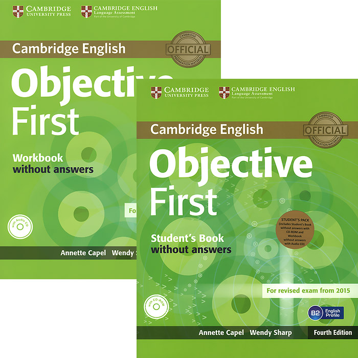 Objective First Student's Pack (комплект из 2 книг + CD, CD-ROM) objective first 4 edition workbook with answers cd rom