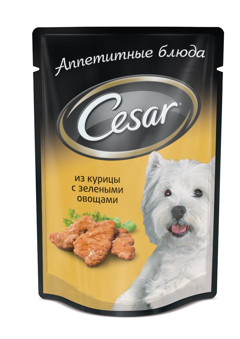Консервы Cesar для взрослых собак всех пород, курица с зелеными овощами, 100 г, упаковка 18+6 шт48815Консервы Cesar - это полнорационный консервированный корм для взрослых собак всех пород. Нежнейшие кусочки мяса, дополненные свежими овощами - идеальное блюдо для любой собаки.Консервы приготовлены исключительно из натурального сырья. Не содержат искусственных красителей, консервантов и усилителей вкуса.В рацион домашнего любимца нужно обязательно включать консервированный корм, ведь его главные достоинства - высокая калорийность и питательная ценность. Консервы лучше усваиваются, чем сухие корма. Также важно, что животные, имеющие в рационе консервированный корм, получают больше влаги. Состав: мясо и субпродукты минимум 40% (в том числе курица минимум 26%), овощи (минимум 4%), злаки, клетчатка, витамины, минеральные вещества.Пищевая ценность в 100 г: белки - 9 г, жир - 4,5 г, зола - 2 г, клетчатка -- 0,5 г, влага - 80 г, витамин А - не менее 150 МЕ, витамин Е - не менее 1,2 мг. Энергетическая ценность в 100 г: 85 ккал.Вес: 24 х 100 г. В комплект входят: 18 упаковок пауча Cesar 6 упаковок пауча Cesar 100 г в подарокТовар сертифицирован.