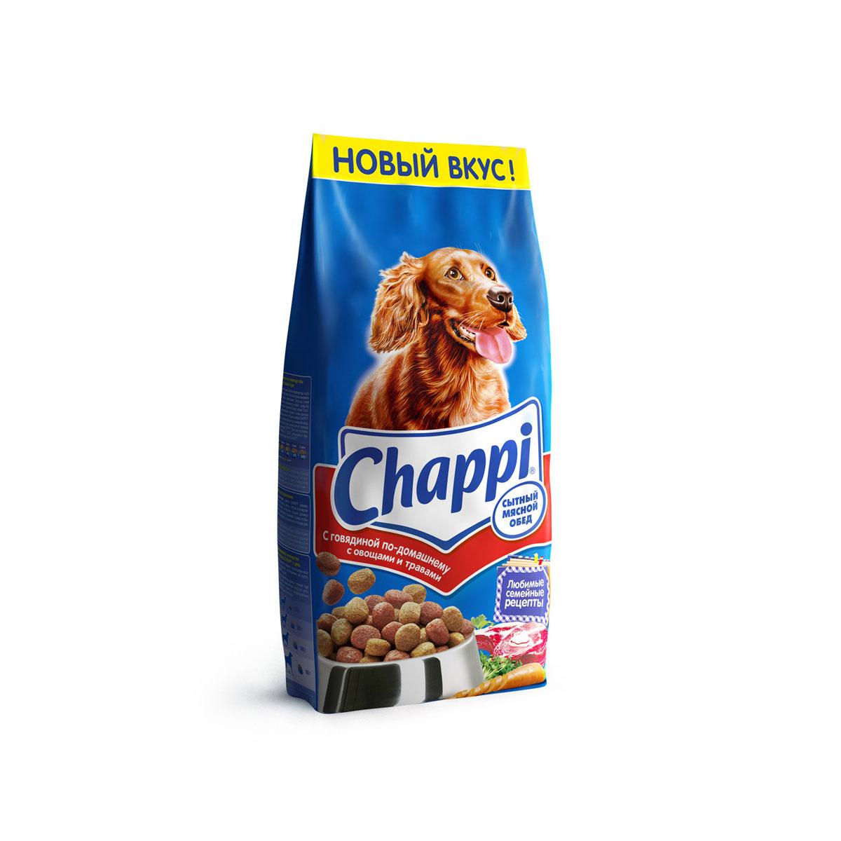 Корм сухой для собак Chappi Сытный мясной обед, с говядиной по-домашнему с овощами и травами, 15 кг10016Сухой корм Chappi Сытный мясной обед - это специально разработанная еда для собак с оптимально сбалансированным содержанием белков, витаминов и микроэлементов.Уникальная формула Chappi включает в себя все необходимые для здоровья компоненты: - мясо - для силы и энергии в течение дня; - овощи, травы и злаки - для отличного пищеварения; - масла и жиры - для блестящей шерсти и здоровой кожи; - кальций - для крепких зубов и костей; - витамины - для защиты здоровья; - минералы - для подержания собаки в оптимальной форме.Корм Chappi идеально подходит для вашего любимца как надежный источник жизненных сил. Состав: злаки, мясо и субпродукты, жиры животного происхождения, морковь, люцерна, растительные масла, минеральные вещества, витамины.Пищевая ценность в 100 г: белок - 18 г, жиры - 10 г, клетчатка - 7 г, влажность - не более 10 г, зола - 7 г, кальций - 0,8 г, фосфор - 0,6 г, витамин А - 500 МЕ, витамин D - 50 МЕ, витамин Е - 8 мг, витамины В2, В12, пантотеновая и никотиновая кислоты.Энергетическая ценность в 100 г: 350 ккал.Вес: 15 кг.Товар сертифицирован.