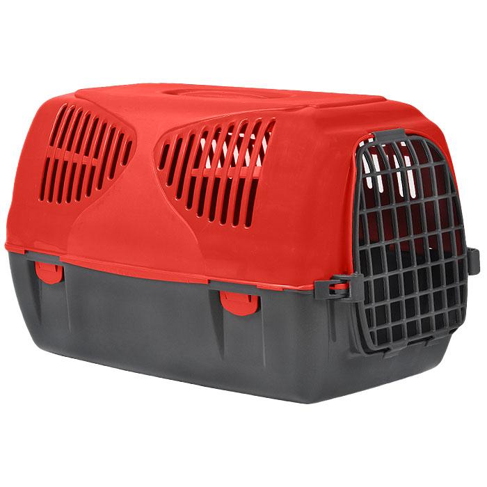 Переноска для животных MPS Sirio Big, цвет: серый, красный, 64 х 39 х 39 смS01010300Переноска MPS Sirio Big, выполненная из высококачественного пластика, прекрасно подойдет для собак средних пород и кошек. Переноска оснащена крышкой с отверстиями для вентиляции. Легко собирается и разбирается. Неподвижная ручка обеспечивает большую безопасность при переноске. Самоблокирующая дверь делает транспортировку безопасной и удобной для животного и его хозяина. В комплекте - крепежи и инструкция по сборке.Характеристики: Размер переноски (Д х Ш х В): 39 см х 64 см х 39 см.
