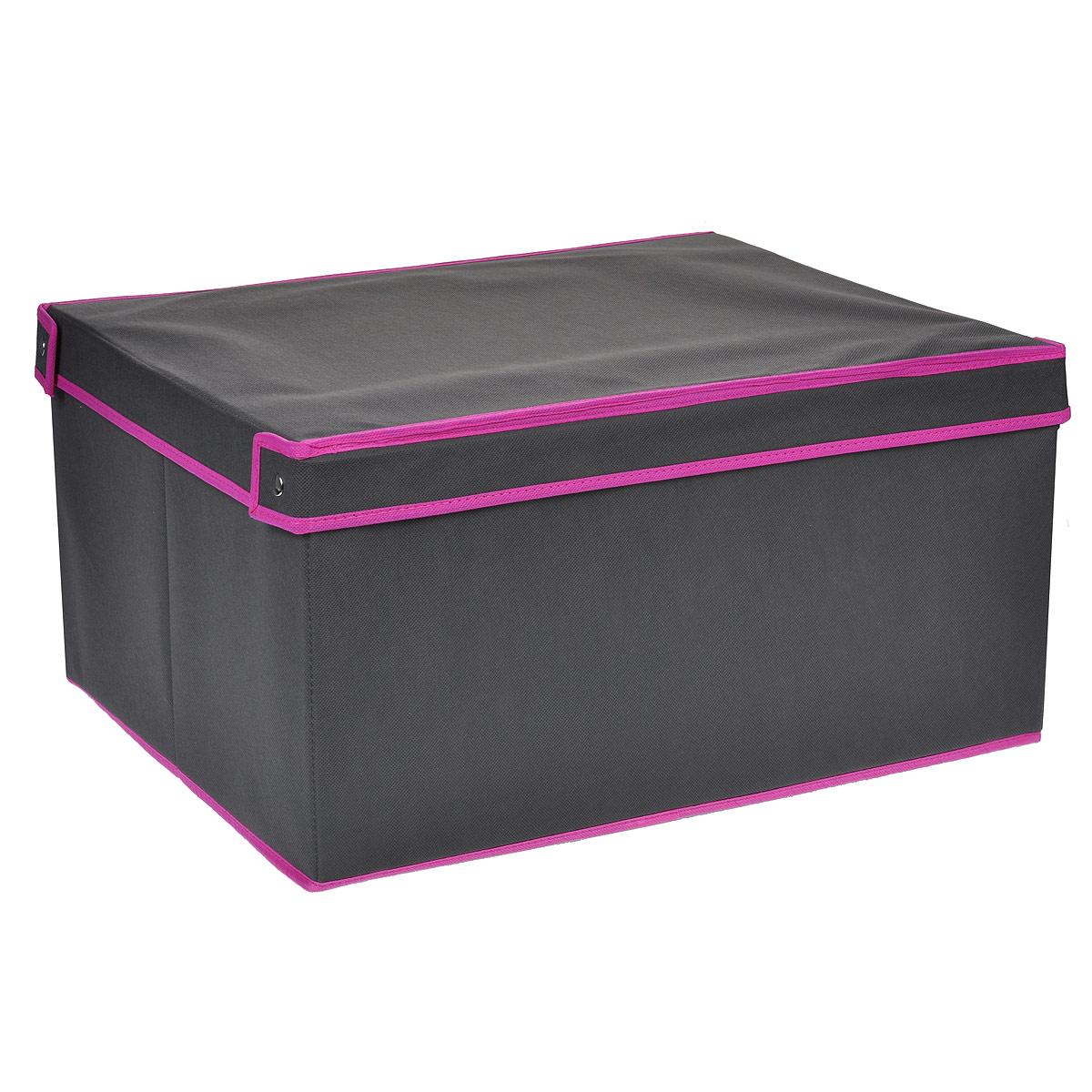 Кофр для хранения GFTC, цвет: серый, розовый, 50 х 40 х 25 смFS-6106LКофр для хранения GFTC изготовлен из высококачественного нетканого материала, который позволяет сохранять естественную вентиляцию, а воздуху свободно проникать внутрь, не пропуская пыль. Благодаря специальным вставкам кофр прекрасно держит форму, а эстетичный дизайн гармонично смотрится в любом интерьере. Мобильность конструкции обеспечивает складывание и раскладывание одним движением. Кофр оснащен крышкой и удобной ручкой. Такой кофр сэкономит место и сохранит порядок в доме.
