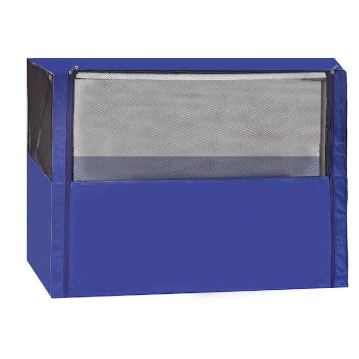 Клетка-вольер  Заря-Плюс , разборная, цвет: голубой, 90 х 70 х 70 см. КВС1 - Клетки, вольеры, будки