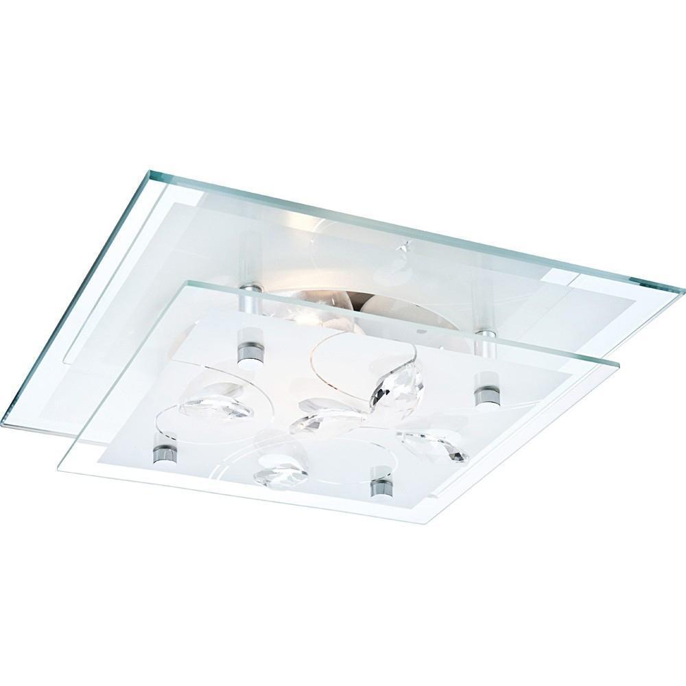 40408 Потолочный светильник JASMINA40408Globo Настенный светильник 40408-2. Настенный светильник с плафоном из матового стекла, декорированного хрустальными стразами, привлекает внимание оригинальным дизайном, лаконичностью форм и изысканностью стиля. Эта модель, без сомнения, гармонично дополнит интерьер вашего дома. Электроприбор можно разместить в зоне отдыха, и его мягкий свет поможет вам расслабиться, отдохнуть после напряженного дня за чтением книги или газеты. Высокое качество используемых в производстве световой техники материалов австрийской компании Globo является гарантией долгой службы прибора.