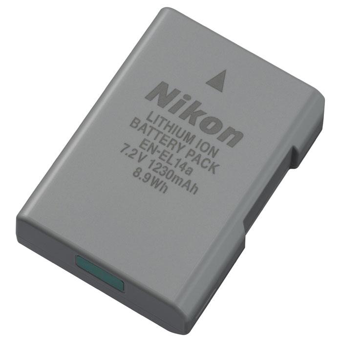 Nikon EN-EL14a аккумулятор для D3xхх, D5xxx, Df, P7800EN-EL14aКомпактная литий-ионная аккумуляторная батарея Nikon EN-EL14a с большой емкостью и длительным сроком эксплуатации.