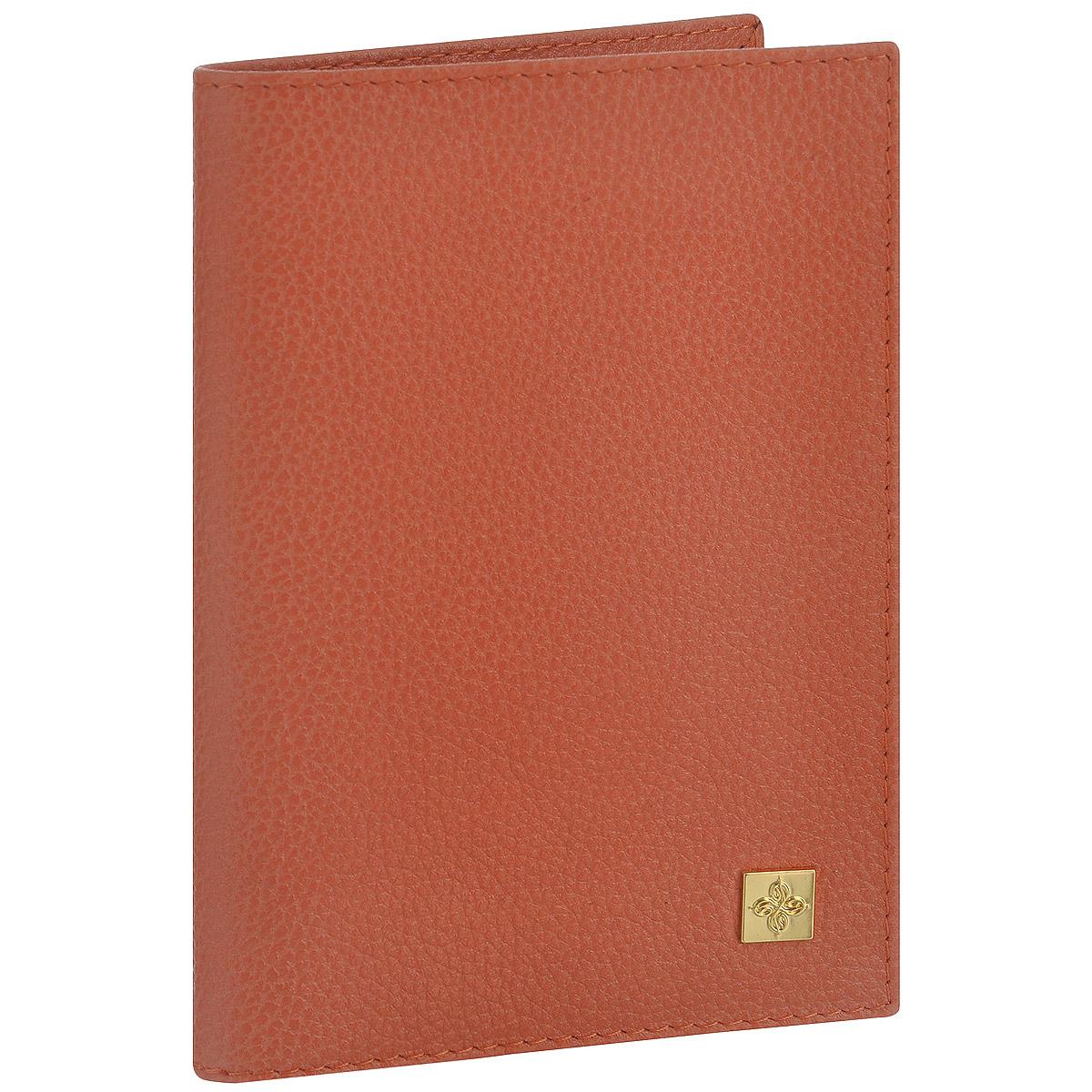 Обложка для паспорта женская Dimanche Corail, цвет: коралловый. 940 лонгслив coccodrillo лонгслив
