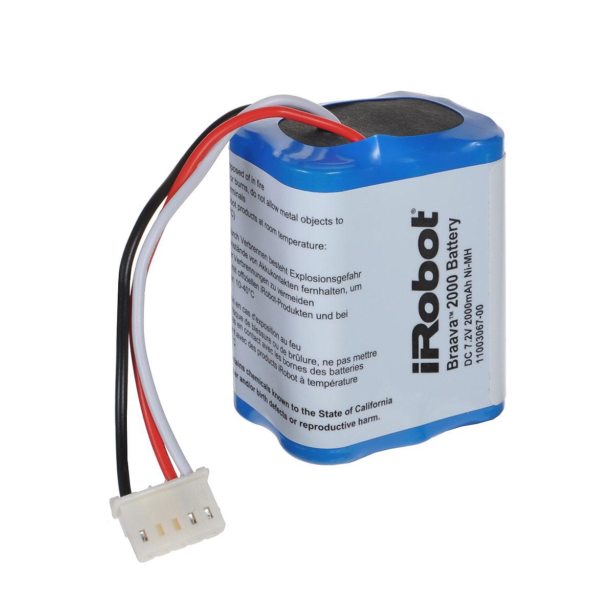 iRobot аккумуляторная батарея NiMH для Braava 380/390t4409709Аккумуляторная батарея iRobot для робота-пылесоса Braava 380/390t. Выполнена из качественных материалов, обладает высокой емкостью.