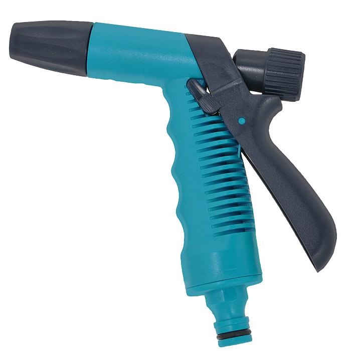 Пистолет поливочный Cellfast Orion, цвет: голубой. 51-30551-305Поливочный пистолет Cellfast Orion специально предназначен для направленного полива растений на садовом участке и в огороде. Соединяется со шлангом через коннектор. Распыление происходит одной струей. Имеет удобную эргономичную рукоятку. Фиксатор струи значительно облегчает работу: нет необходимости зажимать курок, достаточно зафиксировать его. Изготовлен из высококачественного материала, что гарантирует длительный период эксплуатации. Характеристики: Материал: пластик. Цвет: голубой, черный. Размер пистолета (ДхШ): 14 см х 14 см. Диаметр рабочей поверхности: 1,5 см.