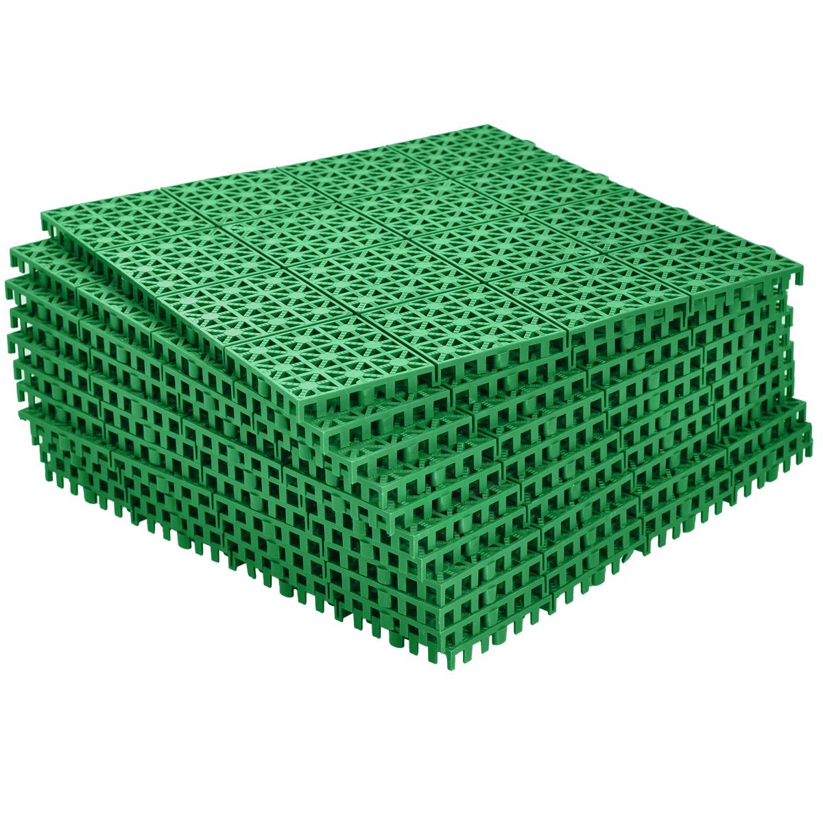 Покрытие садовое FIT, модульное, 30 см х 30 см, 11 шт77492Универсальное модульное покрытие для улиц и помещений. Может использоваться для обустройства садовых дорожек, автомобильных площадок, помещения балконов, террас, игровых и спортивных площадок, а так же для оформления пола внутри помещений. Выполнено из высококачественных морозостойких полипропиленов и может использоваться при температуре от -50 до +70 °С.Быстрая и легкая сборка не требует специального инструмента.