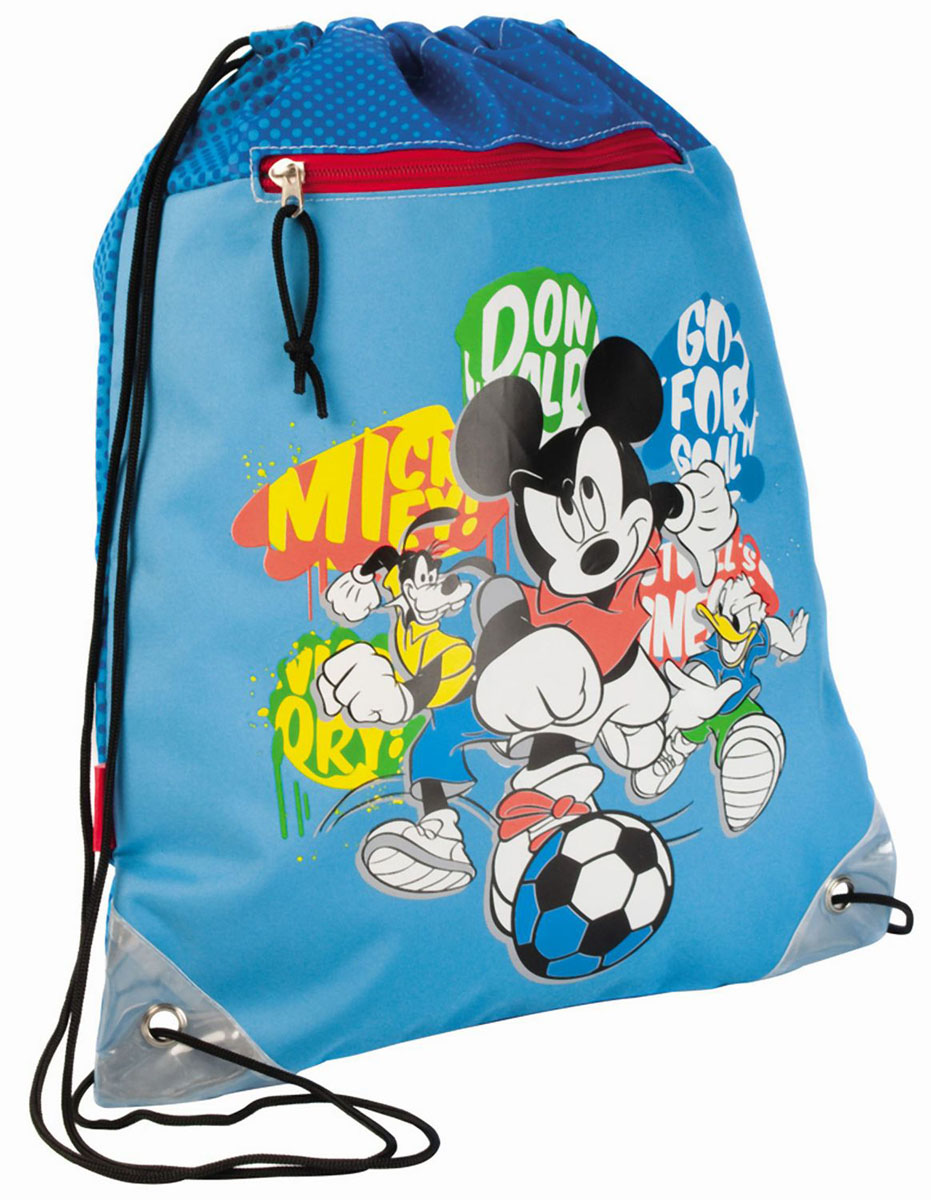 Сумка для сменной обуви Disney Mickey, цвет: голубой сумка disney vf0314 04 mickey vf0314 04