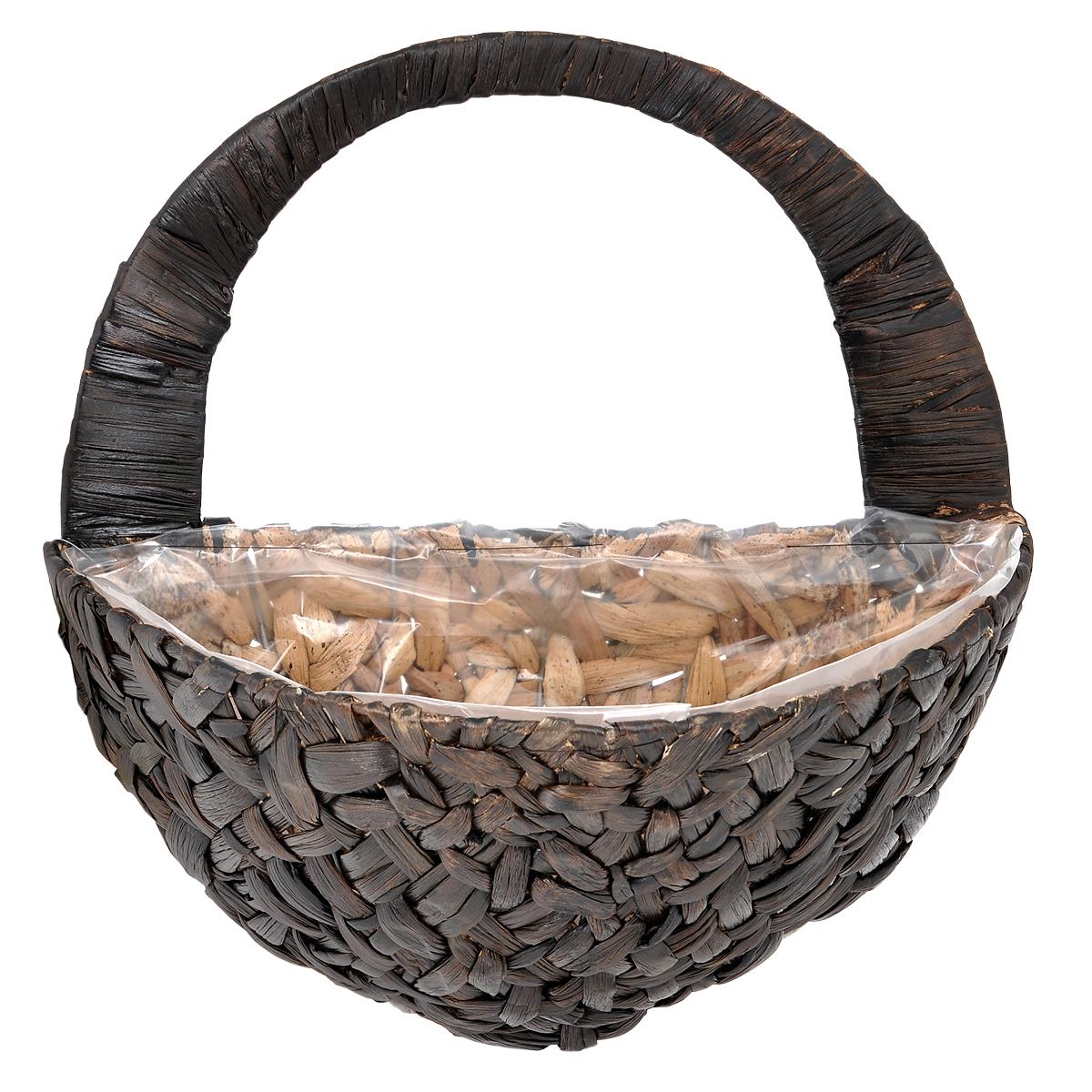 Кашпо настенное Gardman, 40 х 22 х 20 см 0278902789Настенное кашпо Gardman выполнено в виде плетеной корзинки из водного гиацинта. Каркас изготовлен из металла. Корзина уже оснащена специальной пленкой и полностью готова для посадки растений. Прекрасно подходит для цветов.Кашпо часто становятся последним штрихом, который совершенно изменяет интерьер помещения или ландшафтный дизайн сада. Благодаря такому кашпо вы сможете украсить вашу комнату, офис или сад. Характеристики: Материал: металл, водный гиацинт. Размер углубления для посадки (ДхШхВ): 40 см х 22 см х 20 см. Общий размер кашпо (ДхШхВ): 40 см х 22 см х 40 см. Товары для садоводства от Gardman - это вещи, сделанные с любовью, с истинно английской практичностью, основанной на глубоких традициях садоводства Великобритании. Эти товары широко известны садоводам Европы, США, Канады и Японии. Демократичные цены и продуманный ассортимент Gardman завоевал признательность и российского покупателя, достойного хороших, качественных вещей. В ассортименте Gardman есть практически все, что нужно современному садоводу - от совочка для рассады до предметов декора и ландшафтного дизайна.