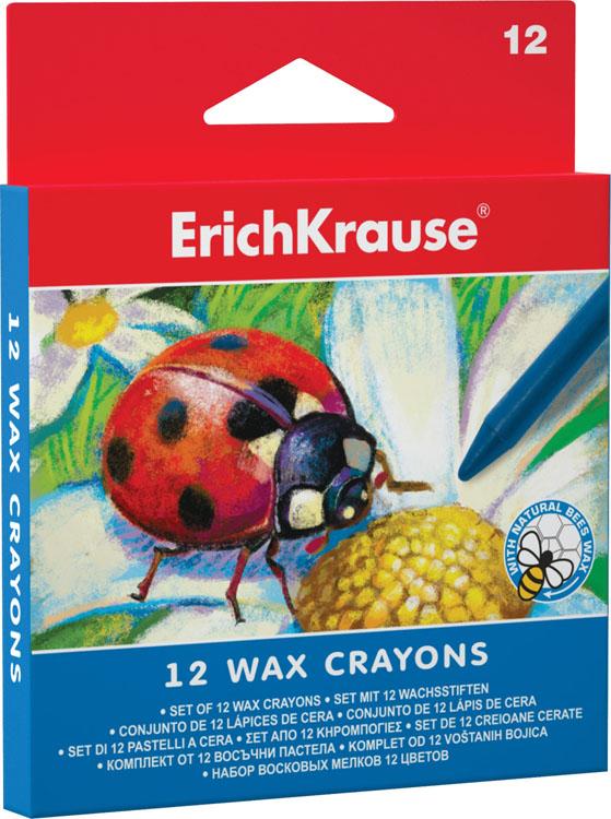 Восковые мелки Erich Krause, 12 цветов34930Набор мелков Erich Krause содержит 12 ярких насыщенных цветов и оттенков. Каждый мелок обернут в бумажную гильзу. Мелки обеспечивают удивительно мягкое письмо, обладают отличными кроющими свойствами. Не токсичны и абсолютно безопасны. Имеют специально разработанный состав на основе пчелиного воска с добавлением натуральныхкрасителей. В набор входит 12 восковых мелков. Характеристики:Диаметр мелка: 0,7 см. Длина мелка: 9 см.