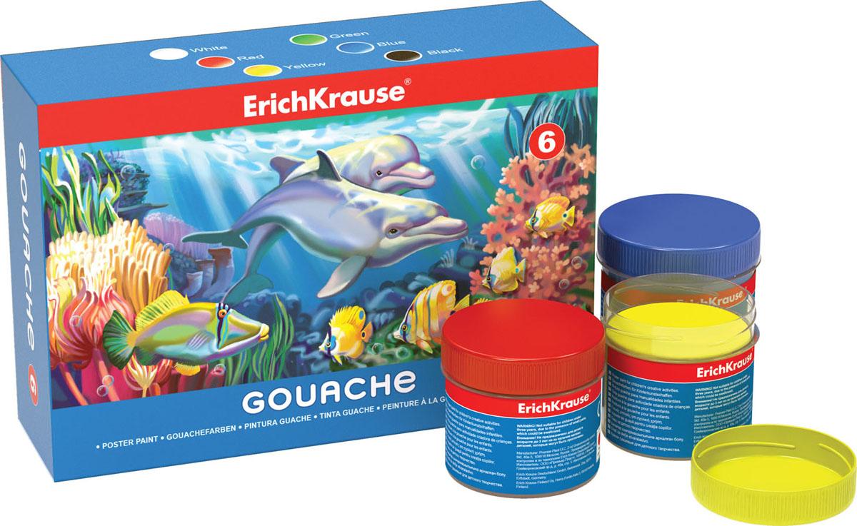 Гуашь Erich Krause, 6 цветов, 100 мл35118Гуашь Erich Krause предназначена для декоративно-оформительских работ и творчества детей. В набор входят краски 6 ярких цветов: белого, красного, зеленого, синего, желтого, черного.Каждая баночка с гуашью закрывается винтовой крышкой. Краски легко наносятся на бумагу и картон, они легко размываются водой и быстро сохнут.Рисование не просто подарит радость вашему малышу, но и поможет ему стать более усидчивым и наблюдательным, развивая способность видеть мир во всех его красках и оттенках.Размер баночки с краской:3,5 см x 3,5 см x 4 см.