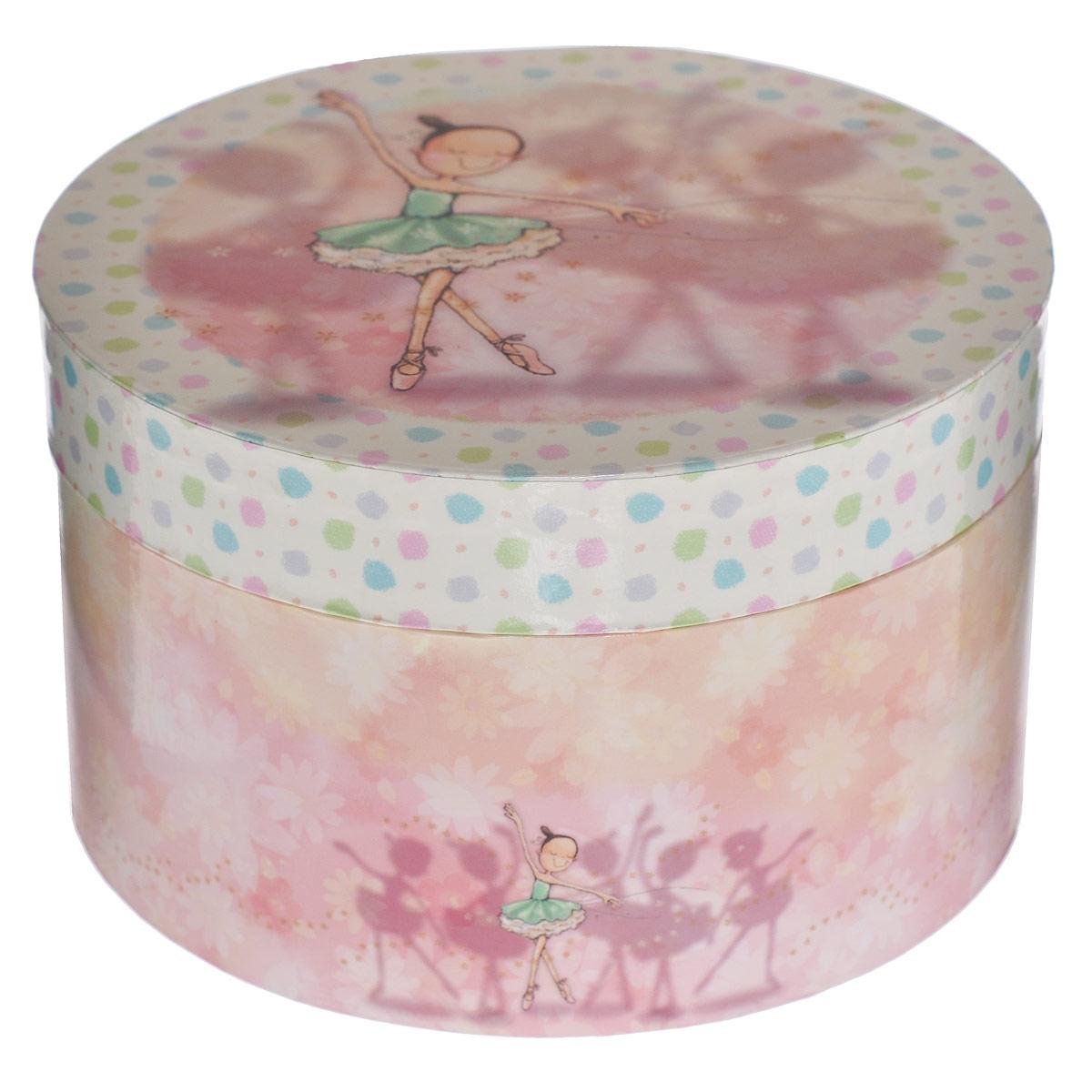 Музыкальная шкатулка Jakos Балерина, цвет: бежевый, розовый музыкальная шкатулка jakos балерина цвет розовый