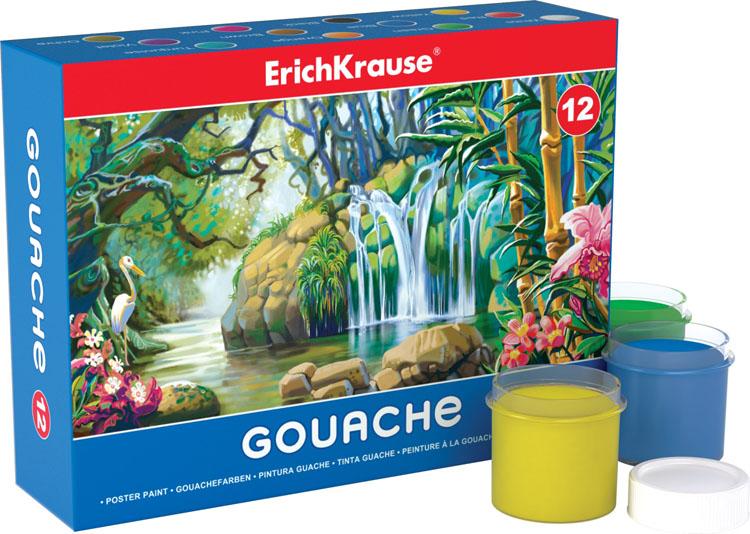 Гуашь  Erich Krause , 12 цветов. 35161 -  Краски