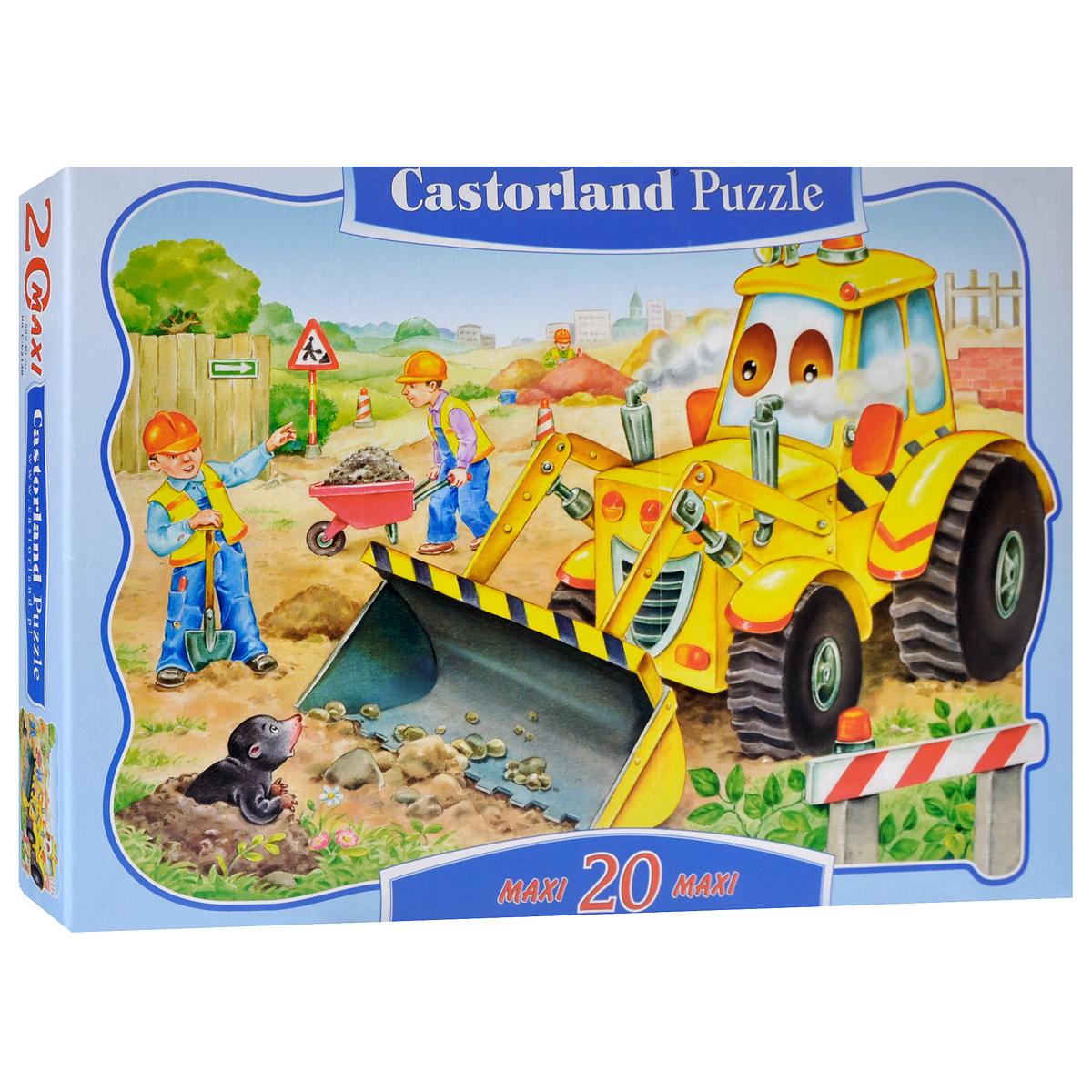 Castorland Пазл для малышей Бульдозер castorland пазл для малышей в аэропорту