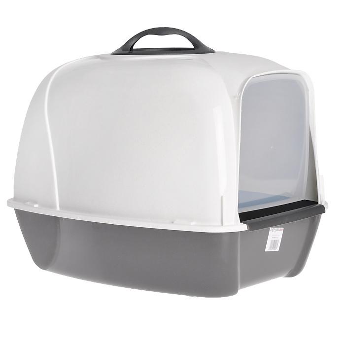 Био-туалет для кошек MPS Pixi, цвет: белый, серый какой лучше купить кошке туалет с решеткой или без решетки
