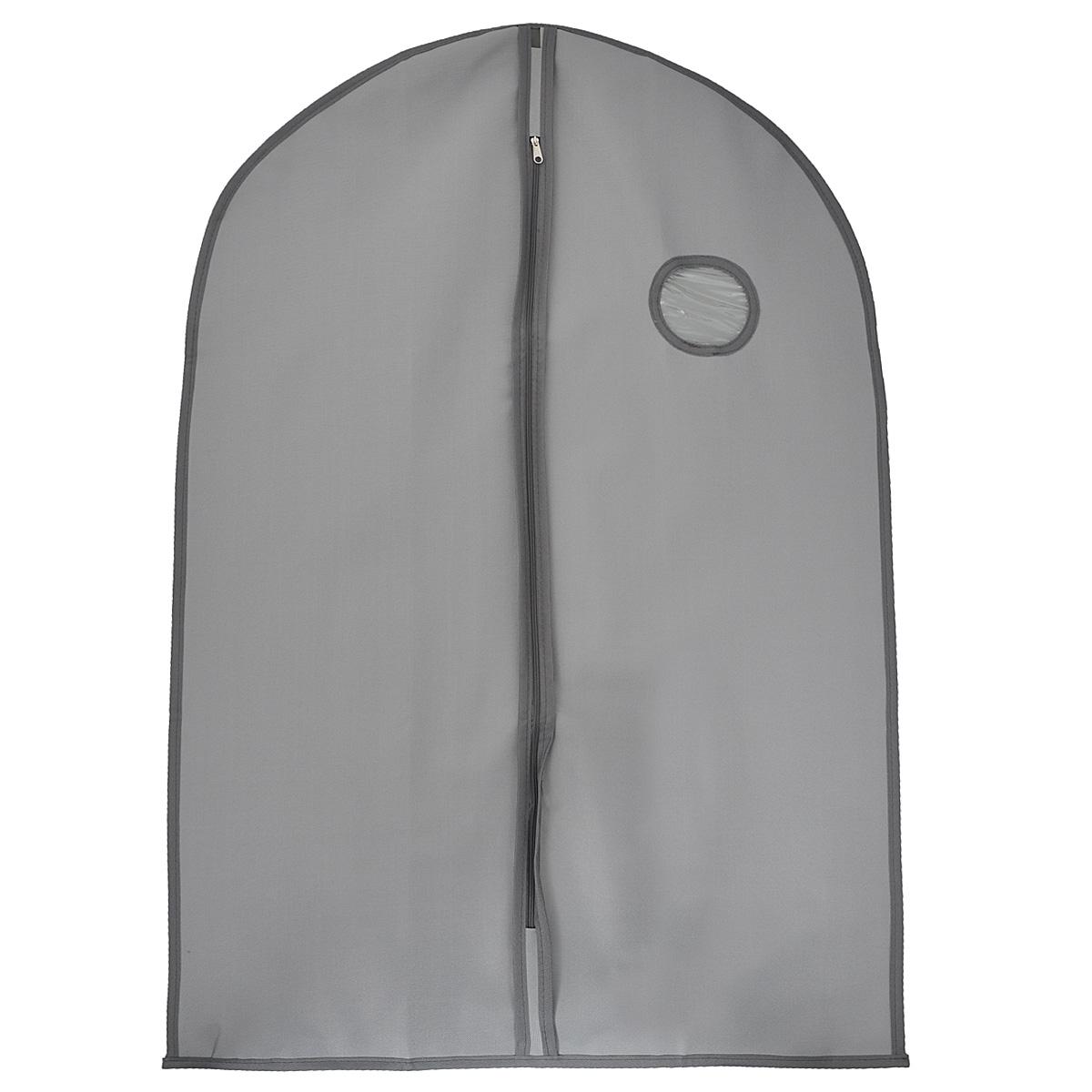 """Чехол для одежды """"FS-6502M-P"""" изготовлен из высококачественного нетканого материала. Особое строение полотна создает естественную вентиляцию: материал """"дышит"""" и позволяет воздуху свободно проникать внутрь чехла, не пропуская пыль. Благодаря форме чехла, одежда не мнется даже при длительном хранении. Застегивается на молнию. Окошко из пластика позволяет увидеть, какие вещи находятся внутри. Чехол для одежды будет очень полезен при транспортировке вещей на близкие и дальние расстояния, при длительном хранении сезонной одежды, а также при ежедневном хранении вещей из деликатных тканей. Чехол для одежды """"FS-6502M-P"""" не только защитит ваши вещи от пыли и влаги, но и поможет доставить одежду на любое мероприятие в идеальном состоянии. Характеристики:Материал: 10С ПВХ, пластик. Размер чехла: 60 см х 120 см. Цвет: темно-серый."""