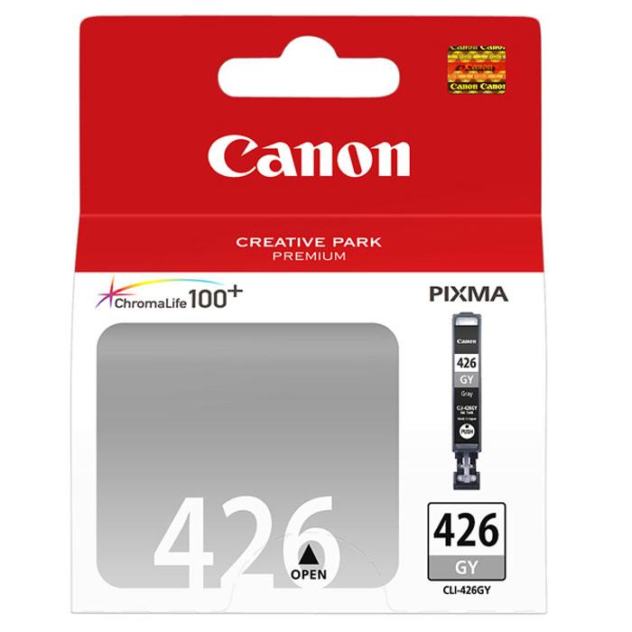 Canon CLI-426GY картридж, Grey4560B001Картридж с чернилами Canon CLI-426 предназначен для струйных принтеров Canon. Ресурс чернильниц сильно зависит от содержания печатаемого документа и установленного качества печати.