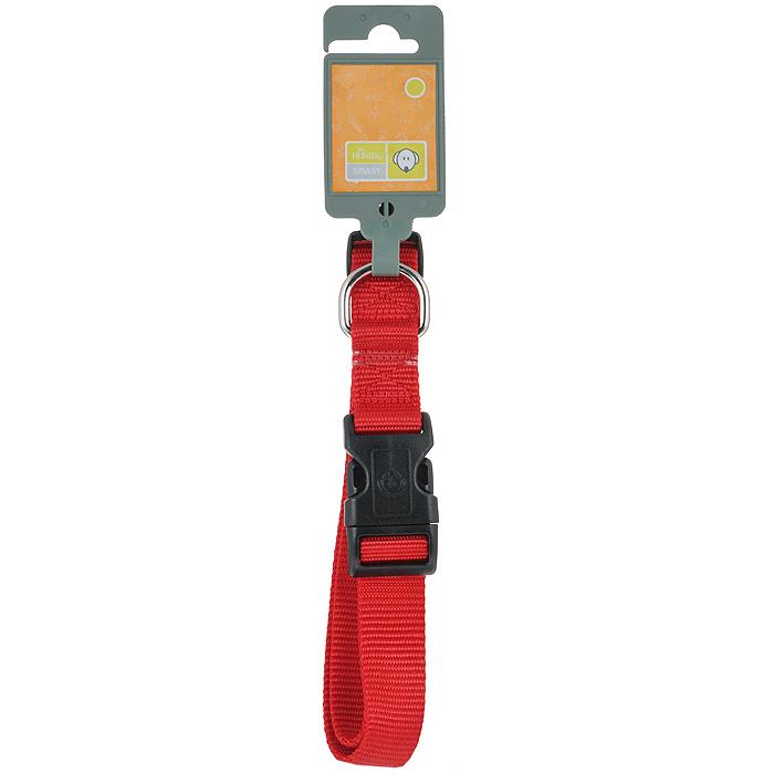 Ошейник для собак Hunter Smart Ecco L, цвет: красный широкий ошейник lux fetish с кольцом для поводка