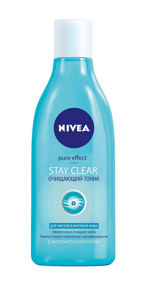 NIVEA Очищающий тоник против несовершенств 200 мл10023215Очищающий тоник Nivea Visage Young Stay Clear содержит морскую соль, которая сужает поры, успокаивает кожу и помогает ей оставаться свежей весь день. Предотвращает покраснение и появление черных точек. Не закупоривает поры. Характеристики: Объем: 200 мл. Производитель: Германия. Артикул: 82344.Товар сертифицирован.