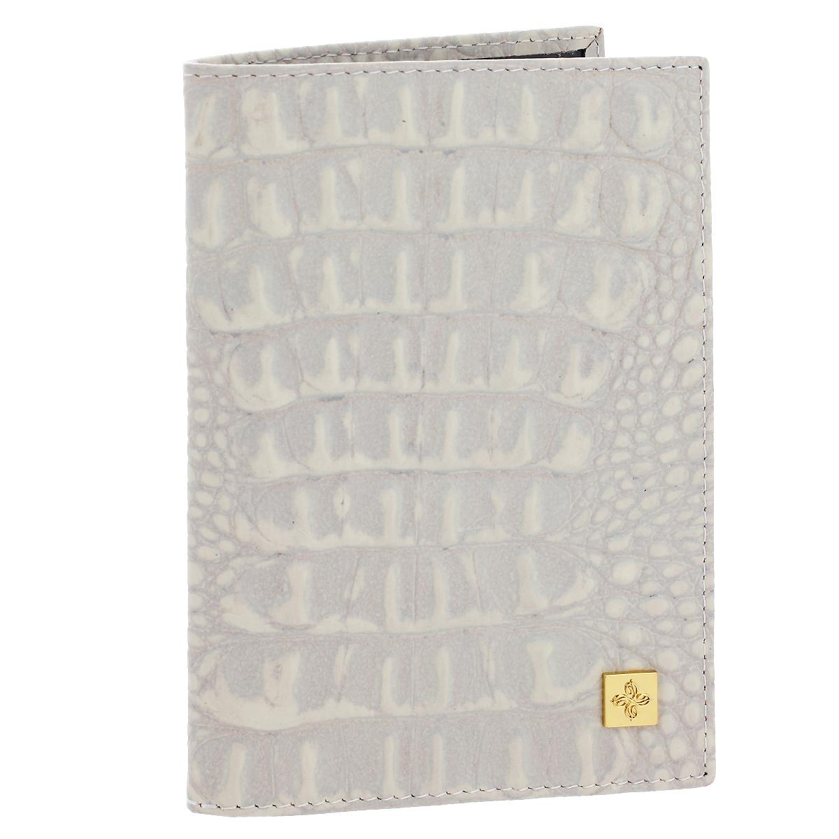 Обложка для паспорта Dimanche Baileys, цвет: светло-бежевый. 860Натуральная кожаОбложка для паспорта Baileys выполнена из натуральной кожи с декоративным тиснением под крокодила. На внутреннем развороте - два кармашка из прозрачного пластика.Обложка не только поможет сохранить внешний вид ваших документов и защитит их от повреждений, но и станет стильным аксессуаром, который подчеркнет ваш неповторимый стиль.Обложка упакована в коробку из плотного картона с логотипом фирмы. Характеристики:Материал: натуральная кожа, ПВХ. Цвет: светло-бежевый. Размер обложки: 9,5 см х 13,5 см х 1,5 см.