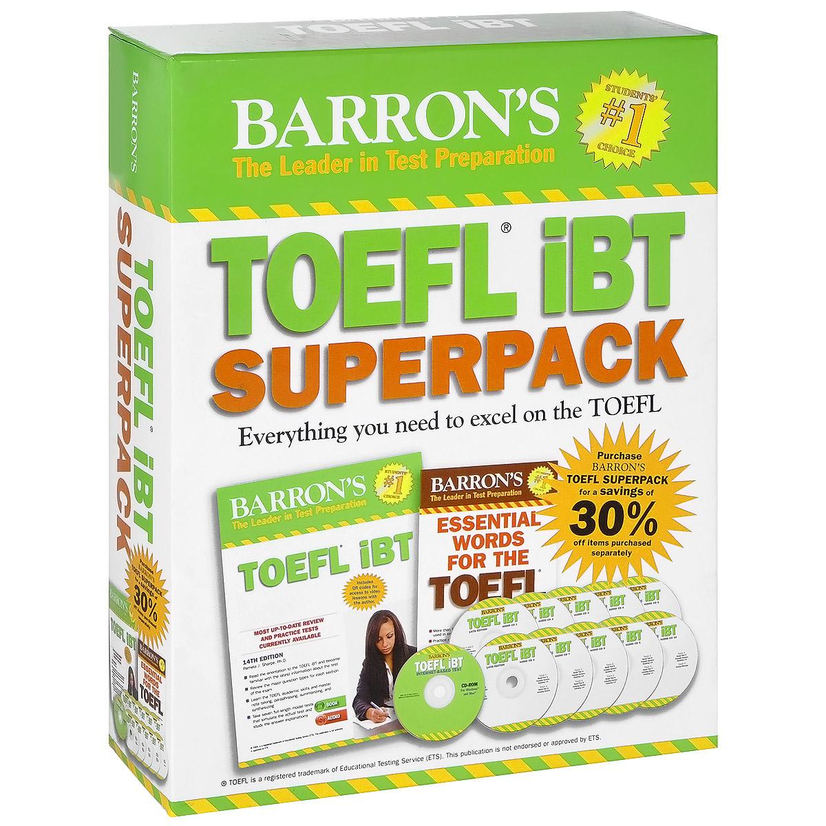 Barron's TOEFL iBT Superpack (комплект из 2 книг + 11 CD-ROM) pamela j sharpe stephen j matthiesen toefl ibt superpack