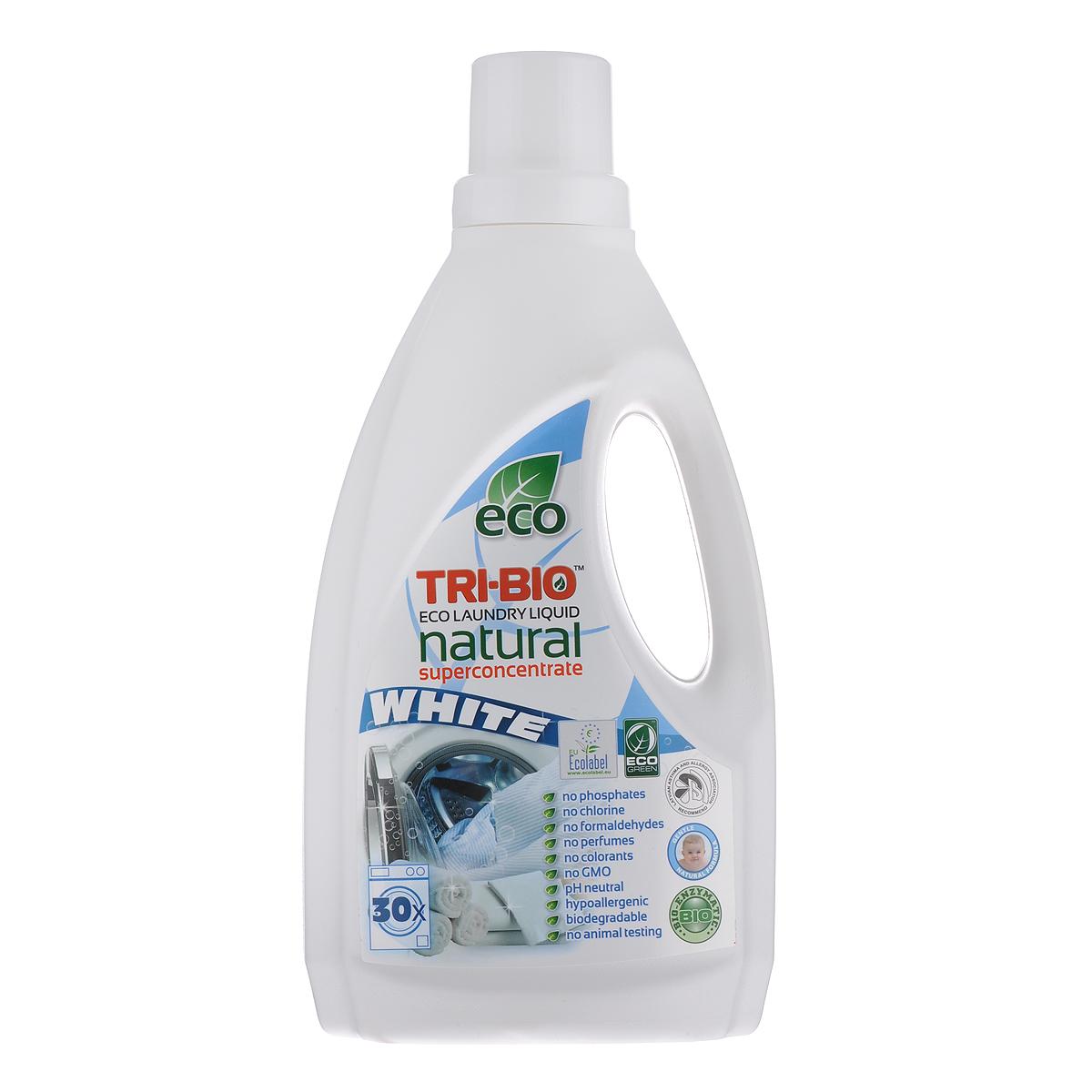 Натуральная эко-жидкость для стирки белого белья Tri-Bio, 1,42 л0550Эффективная формула для стирки белого белья основана на био-энзимах и натуральных растительных и минеральных компонентах. Суперконцентрат рассчитан на 30 стирок. Не содержит фосфаты и формальдегиды, эффективно стирает и сохраняет ткани - предотвращает линьку и выцветание, не влияет на качество. Безопасная альтернатива химическим аналогам. Нейтральный pH. Идеально подходит для детского белья и людей с чувствительной кожей. Не содержит ароматов и красителей, рекомендуется для людей, склонных к аллергиям и астме. Для здоровья: Без фосфатов, растворителей, хлора отбеливающих веществ, абразивных веществ, отдушек, красителей, токсичных веществ. Для окружающей среды: Низкий уровень ЛОС, легко биоразлагаемо, минимальное влияние на водные организмы, рециклируемые упаковочные материалы, не испытывалось на животных. Присвоены сертификаты EU Ecolabel и ECO GREEN.