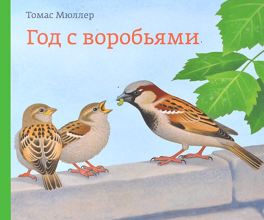 Томас Мюллер Год с воробьями азбукварик от весны и до зимы