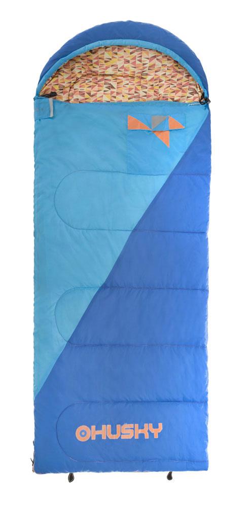Спальный мешок-одеяло Husky Kids Milen, левосторонняя молния, цвет: голубойУТ-000057581Новый спальный мешок спроектирован для юных туристов. Этот спальник очень просторный и удовлетворит запросы ребенка, которому не нравятся спальники формы кокон. В этом спальнике вы найдете все характерные детали спальников Husky, как внутренний и внешний карманы, светоотражающие элементы, компрессионный мешок и уникальный дизайн в стиле Husky.Внутренний материал: полиэстер.- Внешний материал: 70D 190Т нейлон Taffeta.Утеплитель: волокно Hollowfibre 2 слоя по 150 гр/м2.